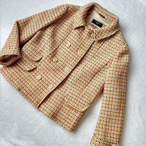 MaxMara wool peacoat blazer jacket tweed vintage